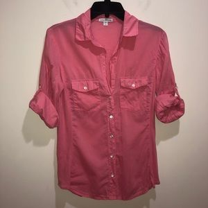 JAMES PERSE 3 Standard Peach/Pink 100% Cotton Top